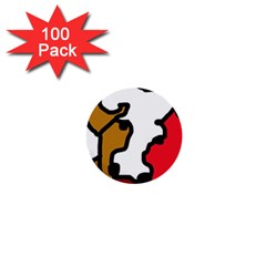 Artistic cow 1  Mini Buttons (100 pack)