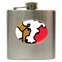 Artistic cow Hip Flask (6 oz)