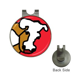 Artistic cow Hat Clips with Golf Markers