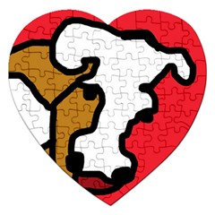 Artistic cow Jigsaw Puzzle (Heart)