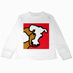 Artistic cow Kids Long Sleeve T-Shirts