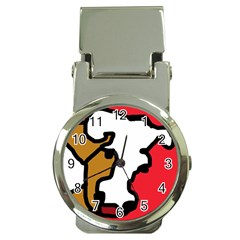 Artistic cow Money Clip Watches