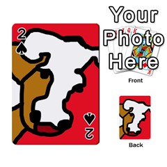 Artistic cow Playing Cards 54 Designs