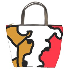 Artistic cow Bucket Bags