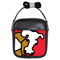 Artistic cow Girls Sling Bags