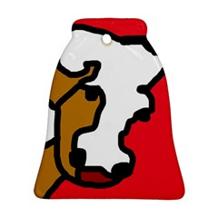 Artistic cow Bell Ornament (2 Sides)