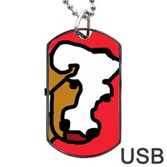 Artistic cow Dog Tag USB Flash (Two Sides)