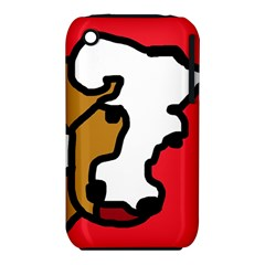 Artistic cow Apple iPhone 3G/3GS Hardshell Case (PC+Silicone)