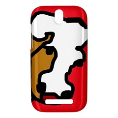 Artistic cow HTC One SV Hardshell Case
