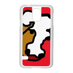 Artistic cow Samsung Galaxy S5 Case (White)