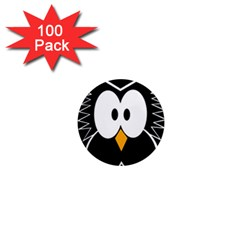 Black owl 1  Mini Magnets (100 pack)