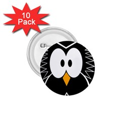 Black owl 1.75  Buttons (10 pack)