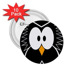 Black owl 2.25  Buttons (10 pack)
