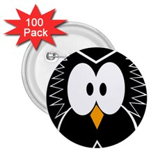 Black owl 2.25  Buttons (100 pack)