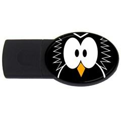 Black owl USB Flash Drive Oval (2 GB)