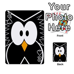 Black owl Playing Cards 54 Designs
