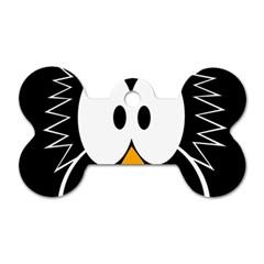 Black owl Dog Tag Bone (One Side)