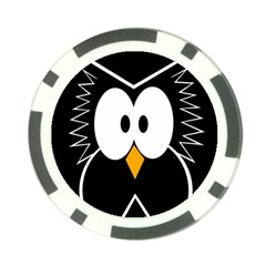 Black owl Poker Chip Card Guards