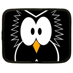 Black owl Netbook Case (Large)