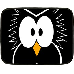 Black owl Double Sided Fleece Blanket (Mini)