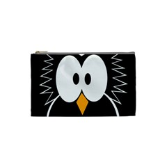 Black owl Cosmetic Bag (Small)