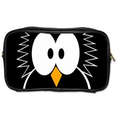 Black owl Toiletries Bags