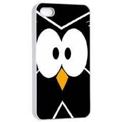 Black owl Apple iPhone 4/4s Seamless Case (White)