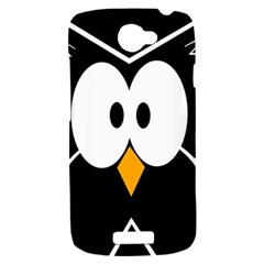 Black owl HTC One S Hardshell Case