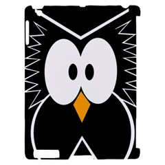 Black owl Apple iPad 2 Hardshell Case (Compatible with Smart Cover)