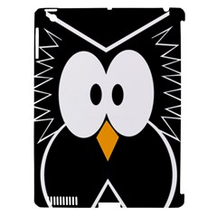 Black owl Apple iPad 3/4 Hardshell Case (Compatible with Smart Cover)
