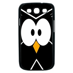 Black owl Samsung Galaxy S III Case (Black)