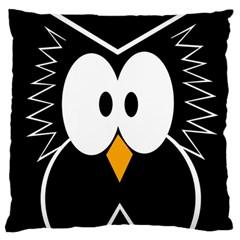 Black owl Large Cushion Case (Two Sides)