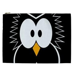 Black owl Cosmetic Bag (XXL)