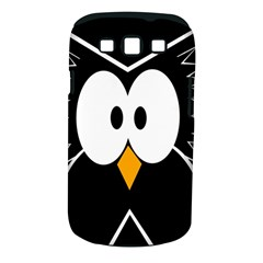 Black owl Samsung Galaxy S III Classic Hardshell Case (PC+Silicone)