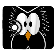 Black owl Samsung Galaxy Note II Flip 360 Case
