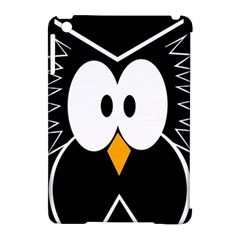 Black owl Apple iPad Mini Hardshell Case (Compatible with Smart Cover)