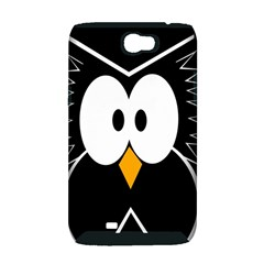 Black owl Samsung Galaxy Note 2 Hardshell Case (PC+Silicone)