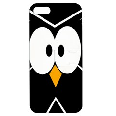 Black owl Apple iPhone 5 Hardshell Case with Stand