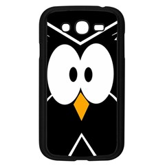 Black owl Samsung Galaxy Grand DUOS I9082 Case (Black)