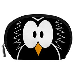 Black owl Accessory Pouches (Large)