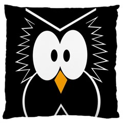 Black owl Large Flano Cushion Case (One Side)