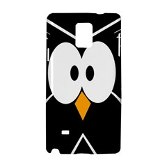 Black owl Samsung Galaxy Note 4 Hardshell Case