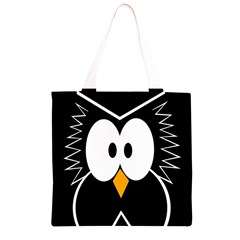 Black owl Grocery Light Tote Bag