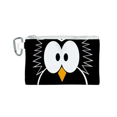 Black owl Canvas Cosmetic Bag (S)