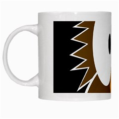 Brown simple owl White Mugs