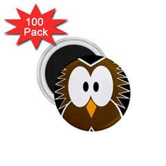 Brown simple owl 1.75  Magnets (100 pack)