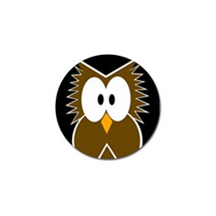 Brown simple owl Golf Ball Marker (10 pack)