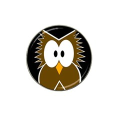Brown simple owl Hat Clip Ball Marker (10 pack)