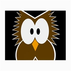 Brown simple owl Small Glasses Cloth