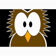 Brown simple owl Collage Prints